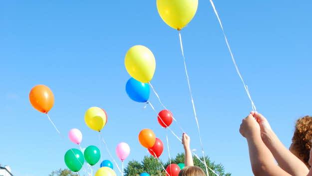 ballonger vid skolstart