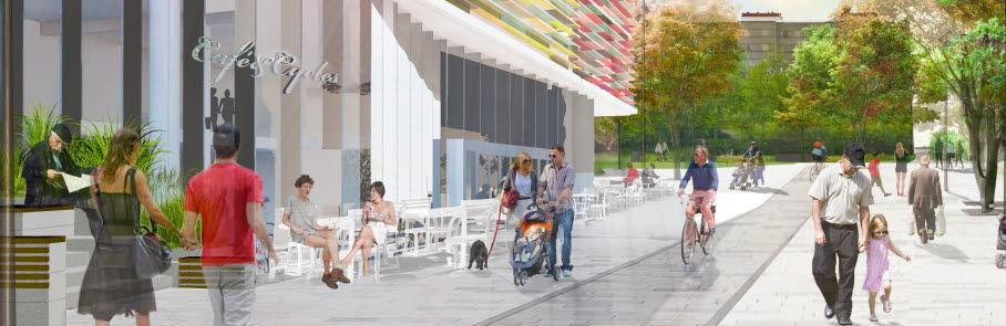 Bilden visar en illustration över hur nya Tusbystråket kan se ut.