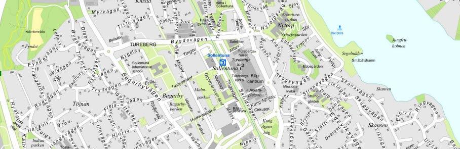 Sollentuna kommuns digitala karta