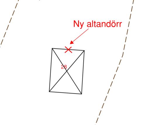 Bygglov, exempel på rätt och fel när det gäller markering på tomtkarta