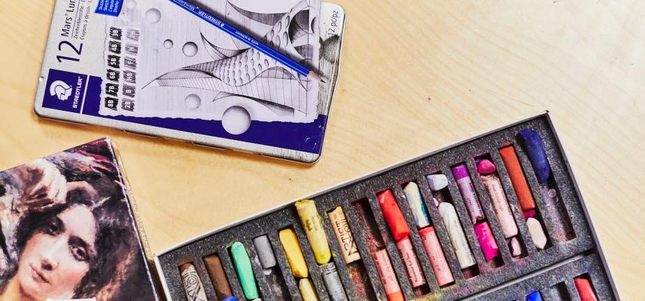 Kritor och målarblock