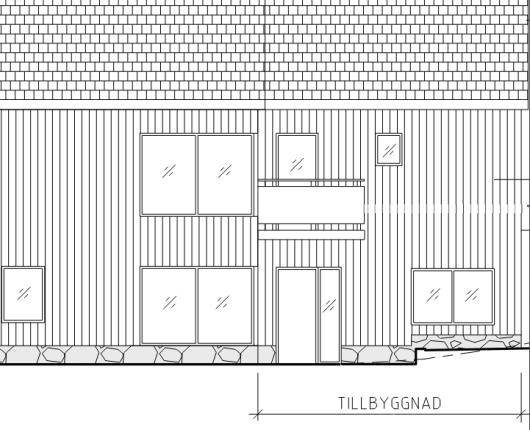 fasadritning tillbyggnad