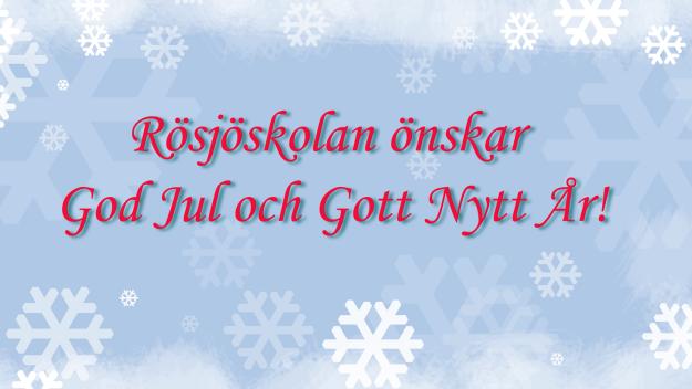 Rösjöskolan önskar God Jul