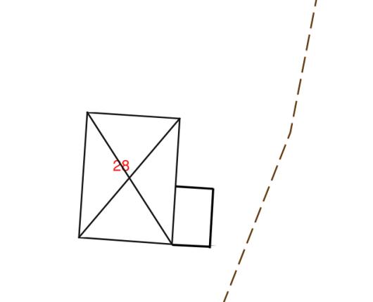 Exempelbilder på rätt och fel på situationsplan vid tillbyggnad