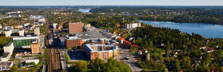 Flygfoto över Tureberg