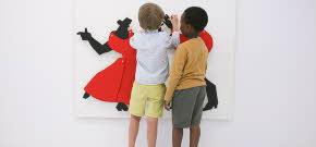 Bild på barn på Stallbacken kultur