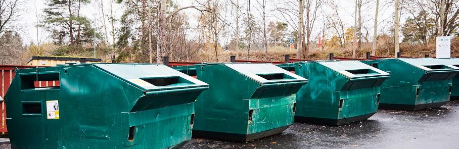 Bild på containrar